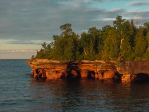 Photo of Devil's Island Sea Caves in Apostle Islands National Lakeshore by Cliff Odendahl.
